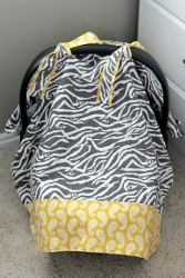 Infant Car Seat Cover Tutorial Allfreesewing Com