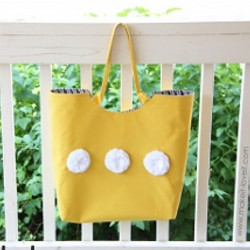 Large Tote with Round Opening