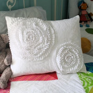 Spinning Ruffles Pillow Cover