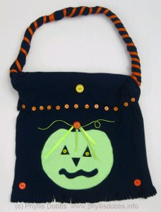 Repurposed T-Shirt Into Halloween Treat Bag