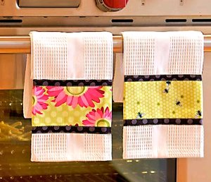 Triple Border Dish Towels