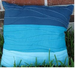 Beachy Blue Pin Tuck Pillow