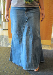 Homemade jean skirt