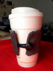 DIY Fathers Day Fabric Coffee Sleeve