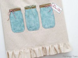 Mason Jar Dish Towel Pattern