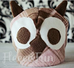 Adorable Owl Fleece Hat Sewing Pattern