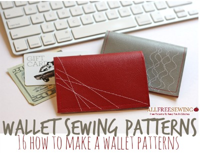 Wallet Sewing Patterns: 16 How to Make a Wallet Patterns ...