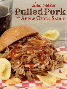 Slow Cooker Apple Cider Pulled Pork