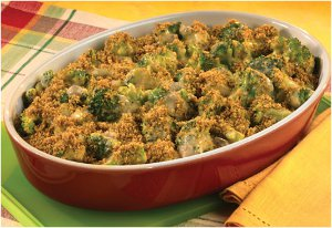 Cheesy Broccoli Casserole for Four