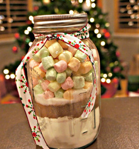 Slow Cooker Hot Chocolate in a Jar