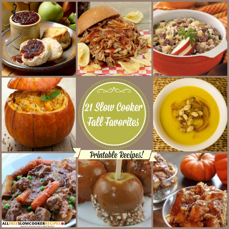 Slow Cooker Fall Favorites: 21 Fall Slow Cooker Recipes Free eCookbook