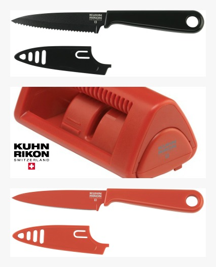 Kuhn Rikon Knives and Sharpener Review