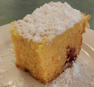 Lemon Berry Pudding Cake Slow Cooker