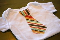 Applique Necktie Onesie