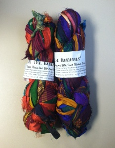 Fair Trade Recycled Silk Sari Ribbon Yarn | AllFreeCrochet com