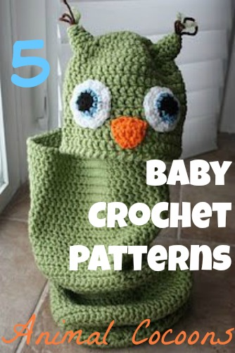 5 Baby Crochet Patterns: Animal Cocoons