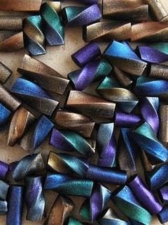 Spiral Metallic Tube Beads
