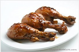 Braised and Glazed Chicken Drumsticks