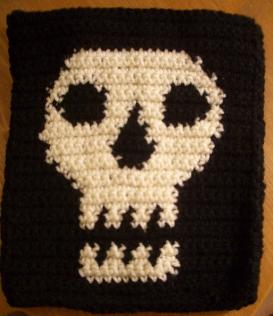 Crochet Skull Tablet Case Favecrafts