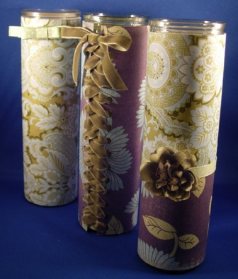 Easy Candle Slip Covers