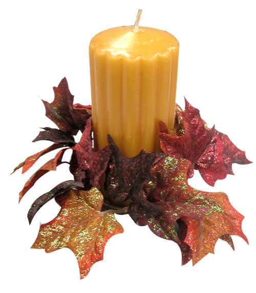 Glitter Leaf Candle Wrap