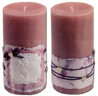 Paper Wrapped Love Candles