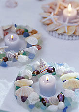 Seashell Candle Rings