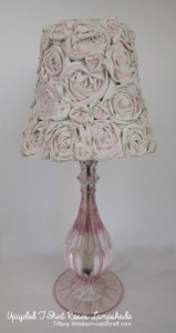 Casual T-Shirt Rosette Lampshade