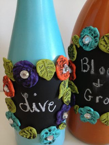 Chalk All Over Wine Bottles
