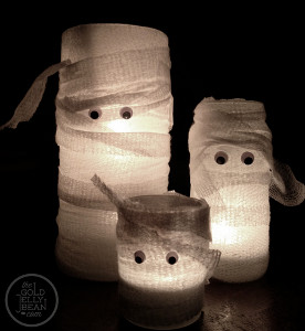Charmingly Cute Mummy Candles