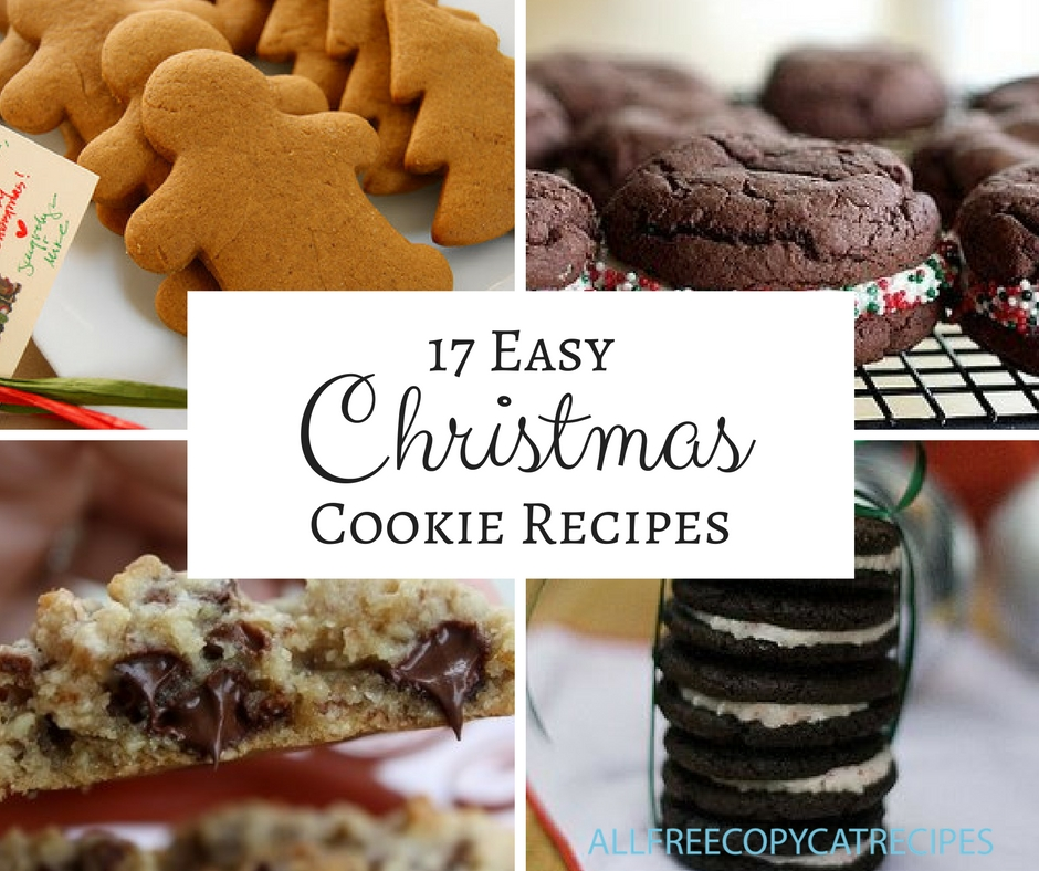 17 Easy Christmas Cookies for Hosting a Christmas Cookie Exchange Party