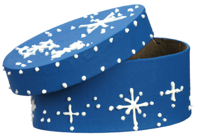 Blue Snowflake Box
