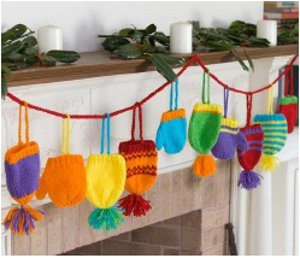 knit hats and mittens holiday decorations