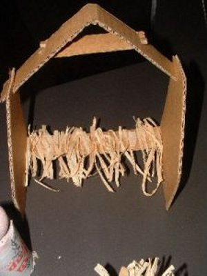 Cardboard Tube Nativity Scene