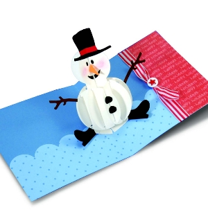Pop-up Snowman Card