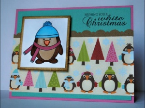 Copic Penguin Christmas Card