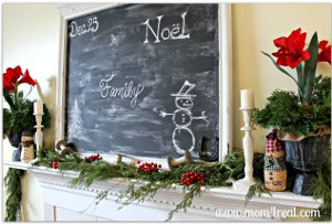 Country Christmas Chalkboard