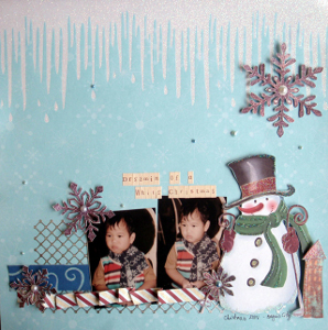 Dreaming of a White Christmas Scrapbook Layout
