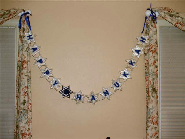 Embroidered Snowflake Garland 2
