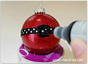 Glittered Santa Ornament