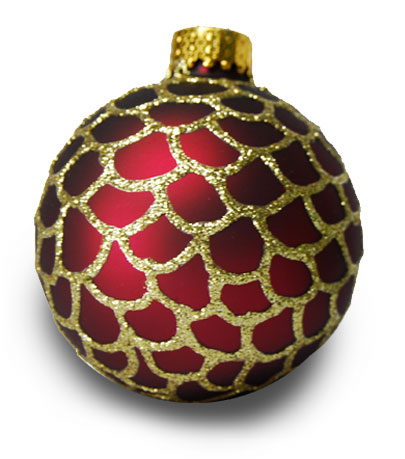 Gold Scalloped Christmas Ornament