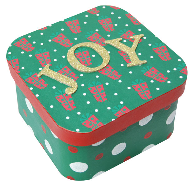 Reusable Painted Christmas Gift Box