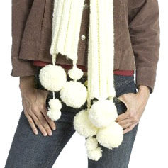 Knit Snowball Scarf
