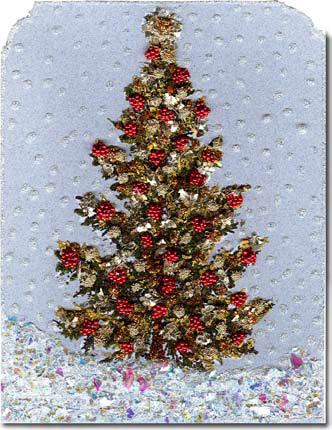 Lavish Christmas Tree Card or Decoration