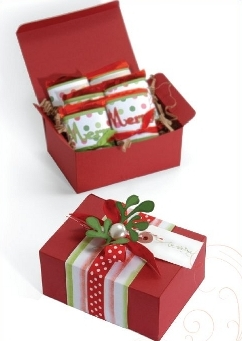 Christmas Gift Box from Sizzix | FaveCrafts.com