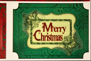 Old Fashioned Merry Christmas Card | FaveCrafts.com