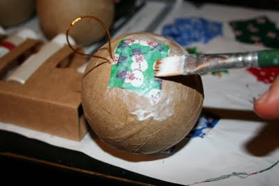 Easy Fabric Decoupage Ornaments