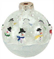 Snowmen Clear Ornament