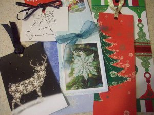 Christmas Card Bookmarks