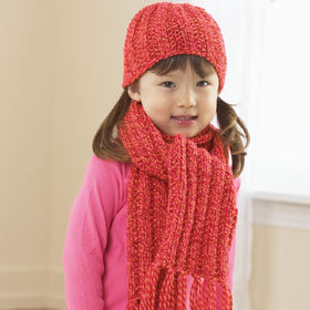 Christmas Hat and Scarf Set